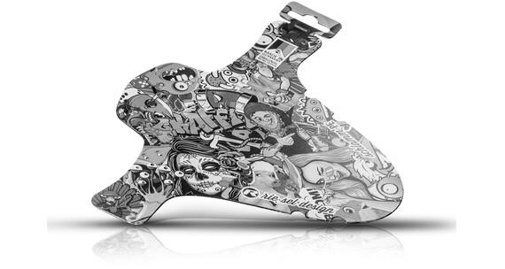 "rie:sel design schlamm:PE Front Mudguard 26-29"" stickerbomb ultra black"